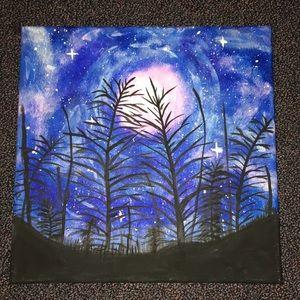 Midnight tree painting.